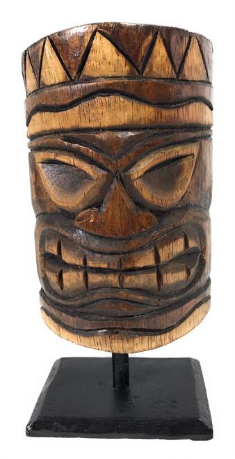 "Tiki Mask on Stand 8"" - Brown Trophy Desktop | #bag1505120n"
