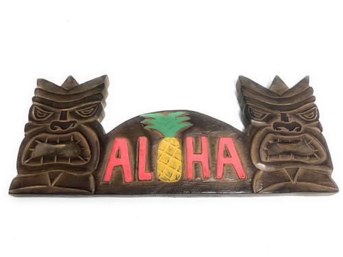 "Tiki Bar Sign 16"" w/ Pineapple - Love & Prosperity | #dpt5075"