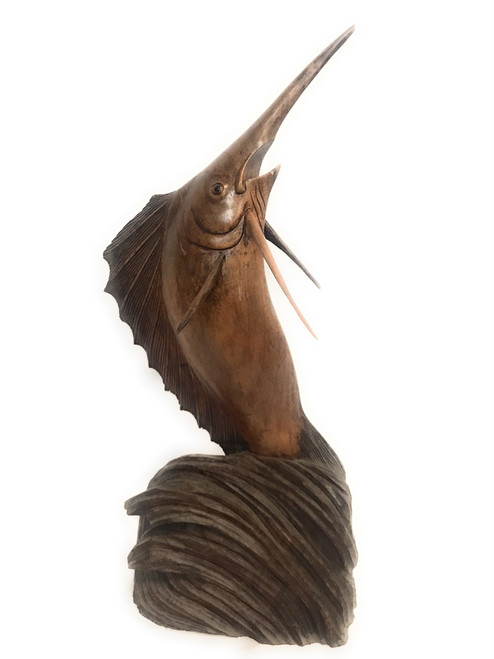 "Exquisite Blue Marlin 28"" - Hand Carved - Hawaiian Treasure | #dal14"