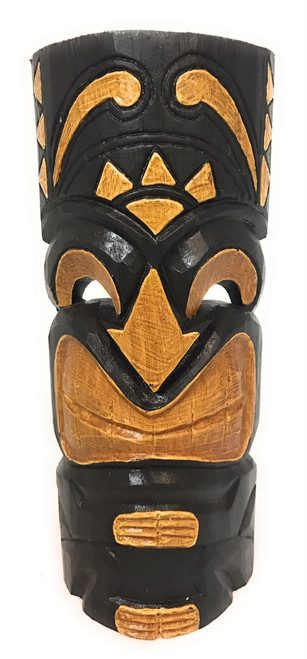 "Happy Tiki Mask 12"" - Hand Carved Smiley Tiki 