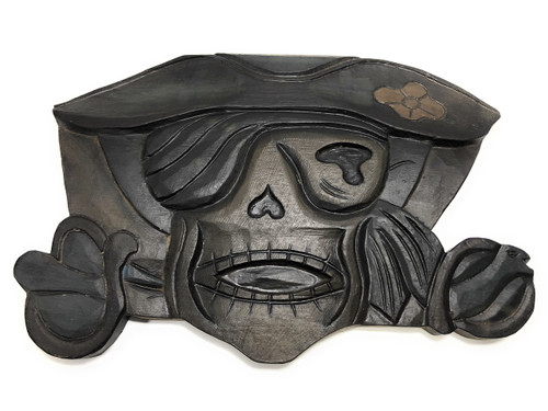 "Pirate Of The Caribbean Sign 14"" - Hand Carved Pirate Decor 