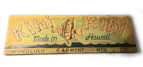 """Kihi Kihi, Made In Hawaii"" Vintage replica Tiki bar Sign 30"" - Nostalgia | #dpt502575"