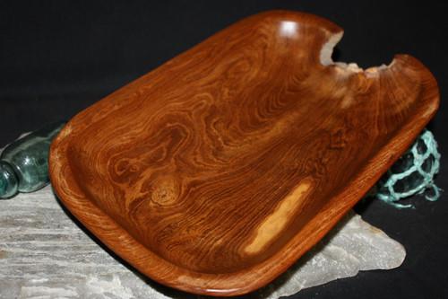 "Rustic Wooden Bowl 15""X10""X2"" Teak Root | #HWA136"