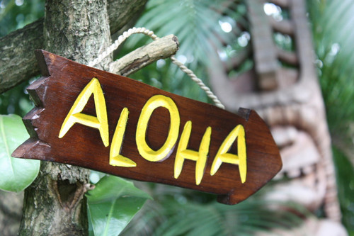 """Aloha Arrow Driftwood Sign 12"""" - Tropical Decor   #dpt528730"""