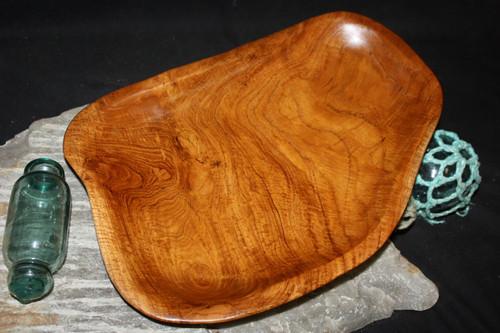 "Rustic Wooden Tray 13""X10""X2"" Teak Root | #HWA137"