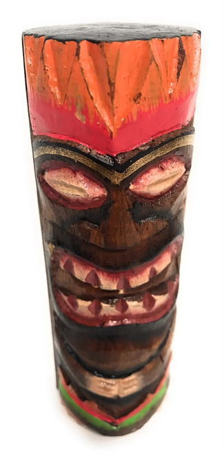 """Tiki Totem 5"""" w/ Lava Hawaii - Hand Carved & Painted 