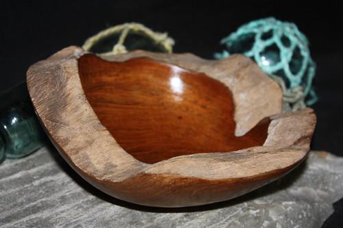 "Rustic Wooden Bowl 8""X8""X3"" Teak Root | #HWA28"