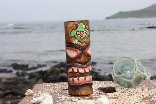 "Tiki Totem 5"" w/ Honu Hawaii - Hand Carved & Painted | #dpt535812e"
