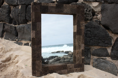 "Lava Rock Rectangular Mirror 24""x30"" - Coastal Living"