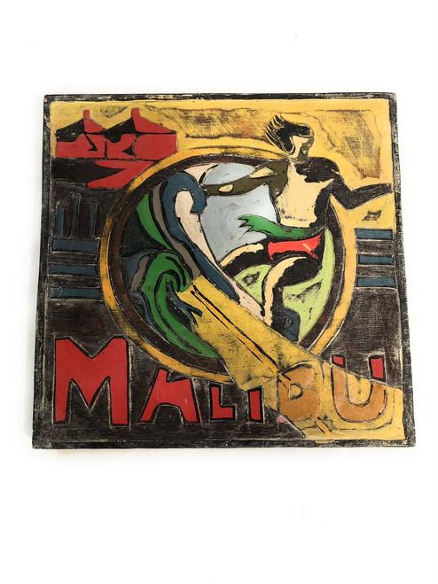 """Malibu, California"" Vintage Surf Sign 12"" | #bds12098"