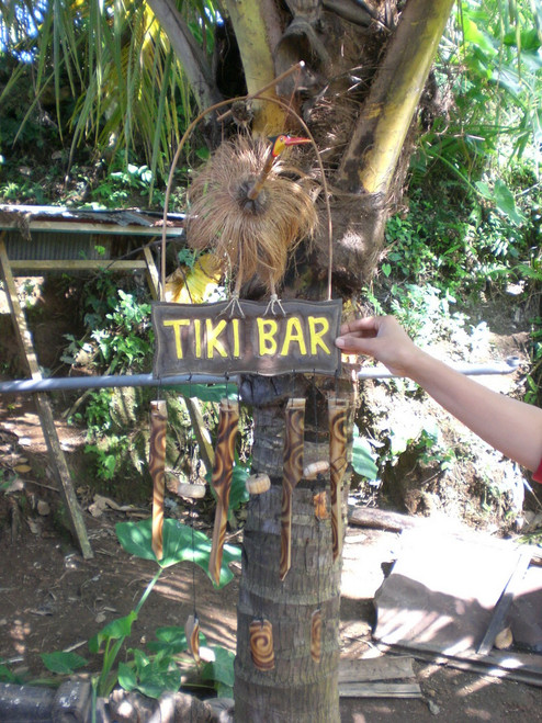 """""""TIKI BAR"""" WIND CHIME - 40"""" BAMBOO - TROPICAL RELAXATION"""