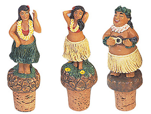 WINE CORK - HULA SET OF 3 - HAWAIIAN STYLE
