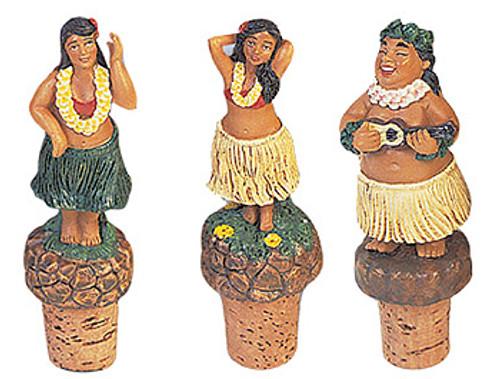 WINE CORK - HULA SET OF 3 - HAWAIIAN STYLE