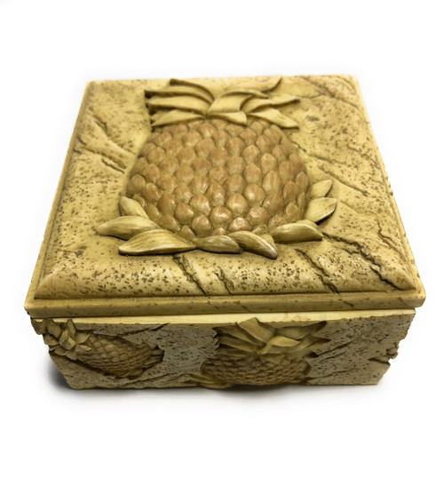 Pineapple Plantation Keepsake Jewelry Box 4"