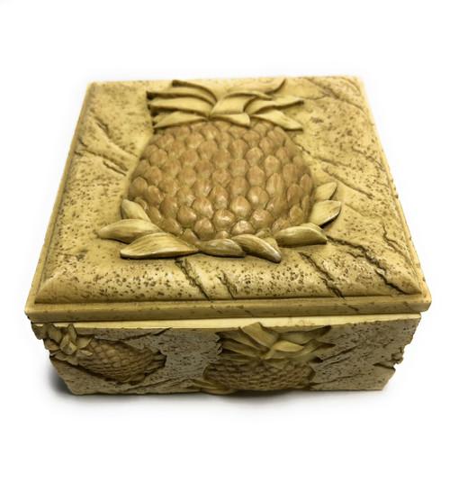 "Pineapple Plantation Keepsake Jewelry Box 4"" | #ih12738"