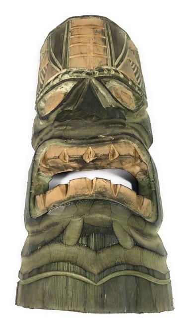 "Hawaiian Tiki Mask 12"" - Forest Green   #dpt514030"