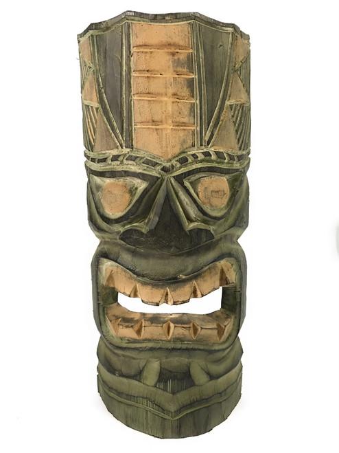 "Hawaiian Tiki Mask 12"" - Forest Green | #dpt514030"