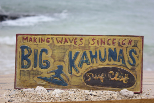"""Big Kahunas Surf Club"" Surf Sign 16"" | #bds1209938"
