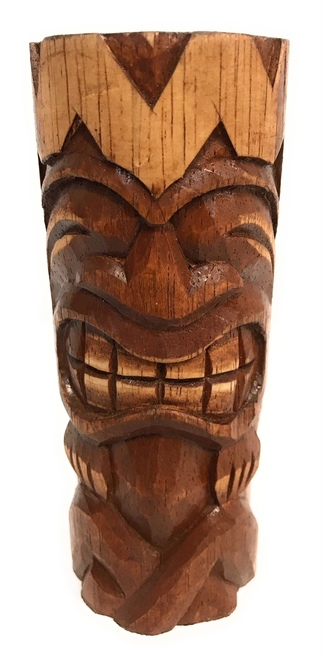 "Big Chief  Tiki Totem 6"" - Hand Carved 