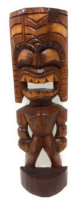 "Big Kahuna Tiki 16"" - Golden Oak Finish - Tiki Trophies 