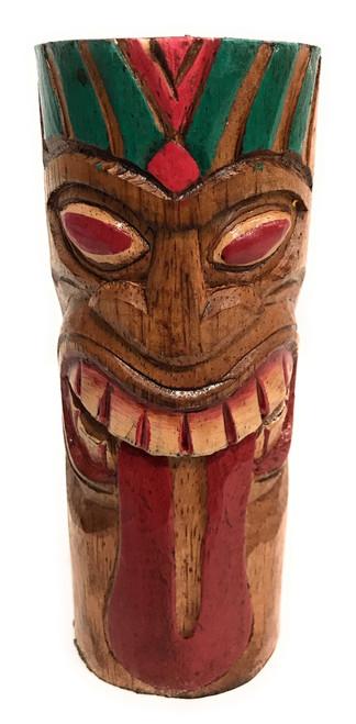 """Warrior Tiki Totem 6"""" - Hand Carved   #dpt5330g"""