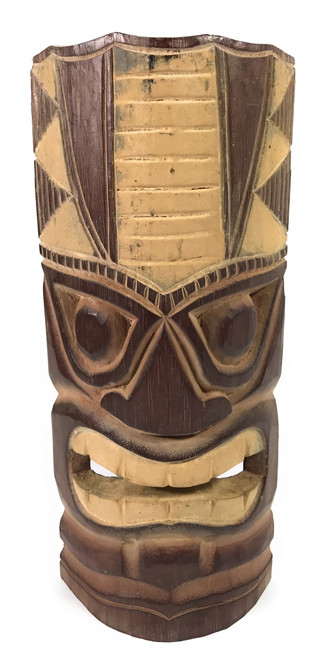 """Earth"" Carved Tiki Mask 12"" - Tiki Decor 