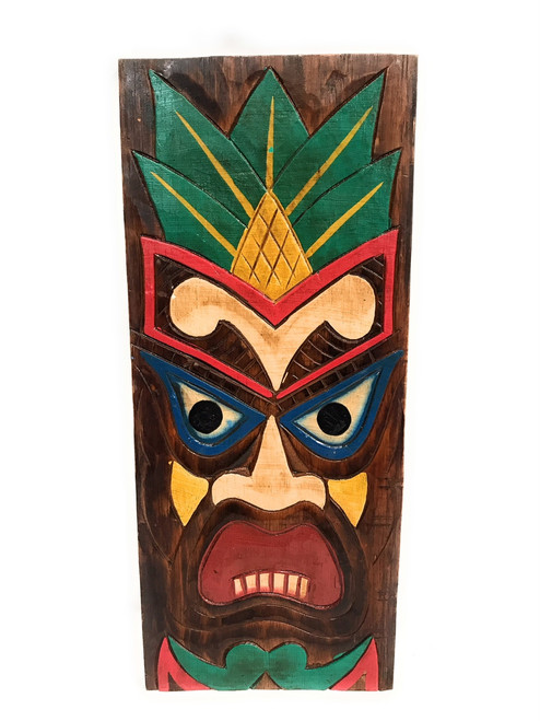 "Hospitality Tiki Shield Mask 20"" Plaque - Pop Art Culture 