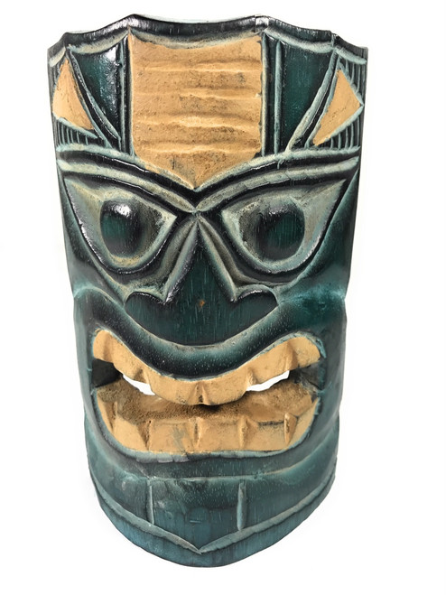 "Ocean & Fishing Tiki Mask 8"" - Hand Carved 