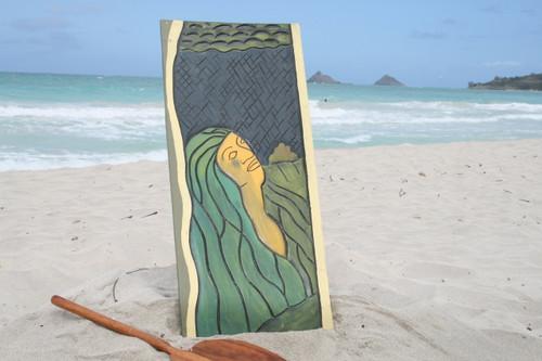 "The Pele Myth, Hawaiian Mythology 30"" X 15"" - Wall Art Wood Panel | #dpt519875"