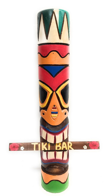 Tribal Tiki Totem Pole 40"