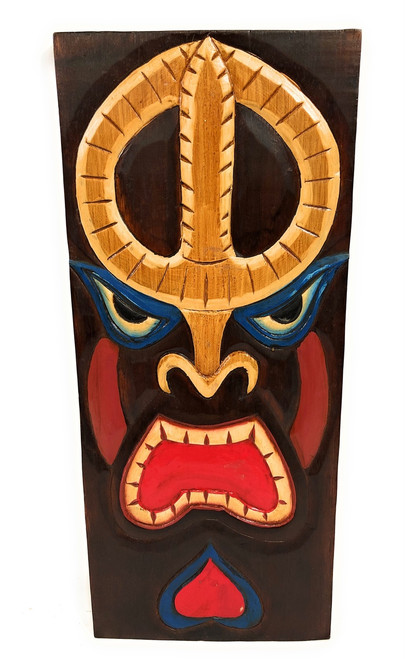 "Tiki Shield Wall Plaque Mask 20"" - Wall Hanging Tropical Decor 