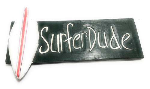 "Surfer Dude Sign 14"" - Surfing Decor 