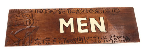 "Men Bathroom Sign 24"" W/ Plumeria Flowers - Restaurant   #Dpt503380"