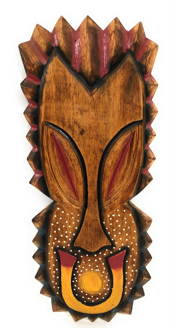 "Tiki Shield Wall Plaque Mask 20"" - Tropical Decor Accent 