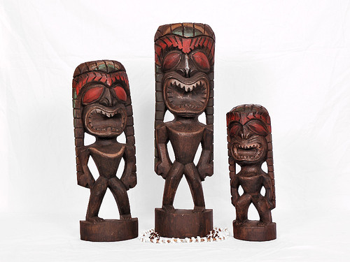 PERFECT TIKI TRIO - OCEAN - FIRE - WIND - HAWAIIAN TRADITION