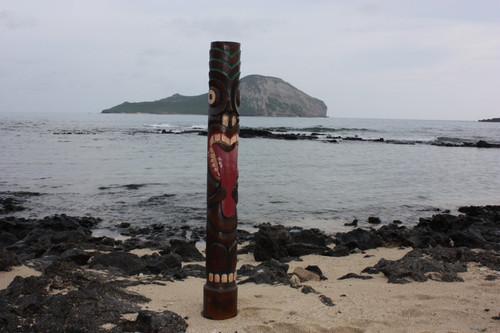 "Big Kahuna Tiki Totem 63"" - Hand Painted & Carved   #dpt5370160"