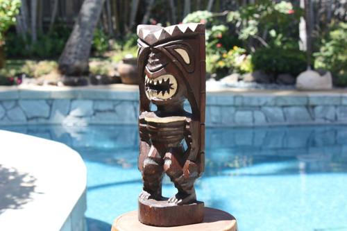 "Pohaku Tiki 12"" - Winner Tiki Idol - Hand Carved   #dpt533530"