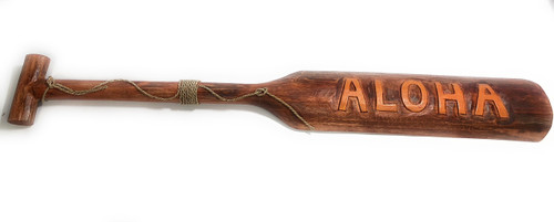 "Aloha Oar/Paddle 46"" - Tropical Decor Accent 