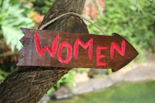 """Women Arrow Driftwood Sign 12"""" - Tropical Decor   #Dpt529730"""