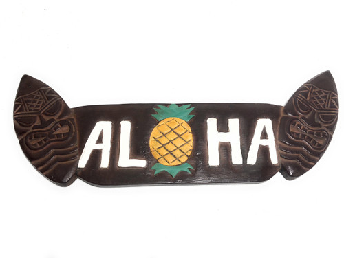 """Aloha Sign w/  Tikified Surfboards 20"""" - Surf Decor 