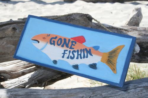 "Gone Fishin' Sign 14"" - Decorative Fishing Decor | #dpt520435"