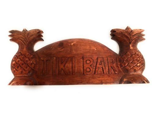 "Tiki Bar Sign 14"" w/ Palm Trees - Island Art | #bds1201140"