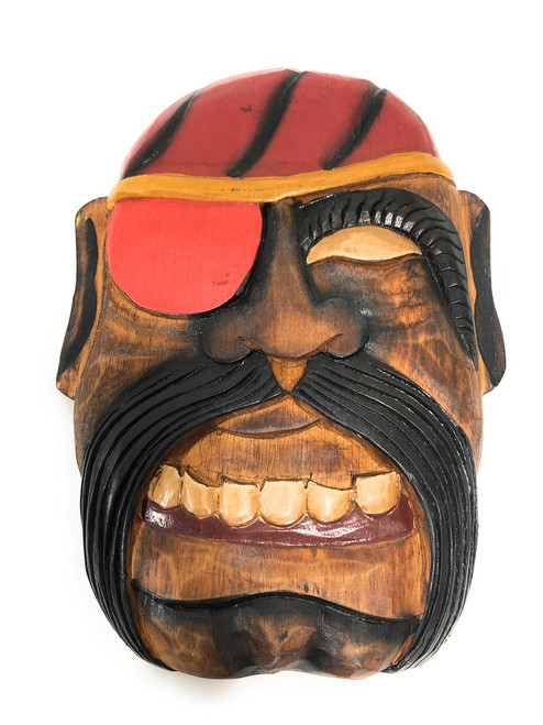 """Bearded Pirate Wall Plaque 12"""" - Pirate Decor 