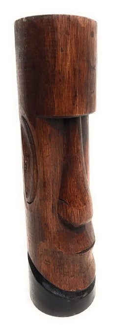 "Moai Easter Island Tiki Totem 10"" - Hand Carved 