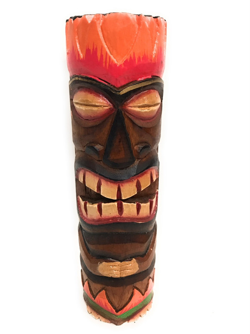 """Tiki Totem 10"""" w/ Lava Hawaii - Hand Carved & Painted 