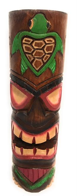 "Tiki Totem 10"" w/ Honu Hawaii - Hand Carved & Painted | #dpt535825e"