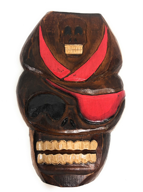 """Captain Skully Wall Plaque 12"""" - Pirate Decor 