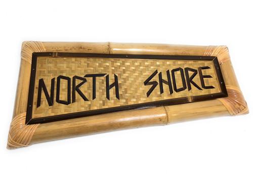 "Northshore Bamboo Sign 20"" X 10"" - Tropical Decor | #bag1500260"
