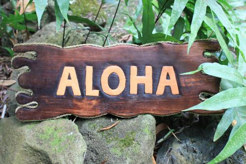 "Aloha Driftwood Sign 20"" - Distress Island Style Decor | #bds1201450"