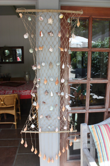 Hanging Net w/ Seashells XXXL - Assortment - Coastal Decor
